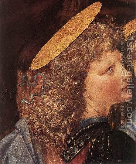 The Baptism of Christ (detail by Leonardo da Vinci) 1472-75 by Andrea Del Verrocchio - Reproduction Oil Painting