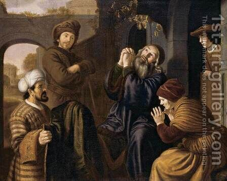 Jacob Being Shown Joseph's Robe 1651-53 by Jan Victors - Reproduction Oil Painting