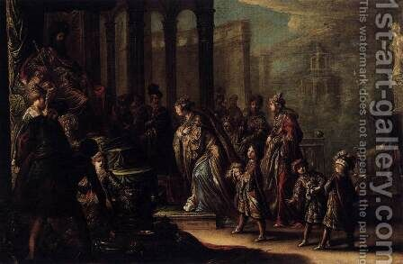 Esther before Ahasuerus 1624 by Claude Vignon - Reproduction Oil Painting