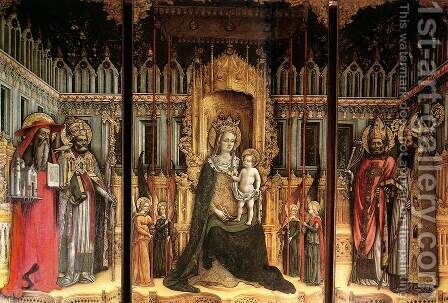 Triptych 1446 by Antonio Vivarini - Reproduction Oil Painting