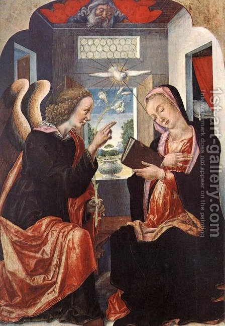 Annunciation by Bartolomeo Vivarini - Reproduction Oil Painting