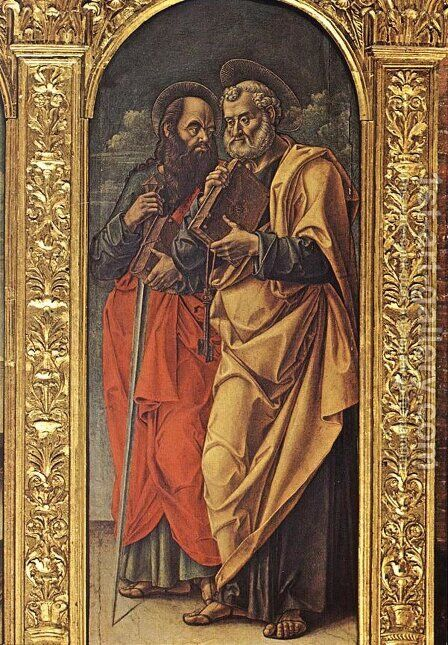 Sts Paul and Peter 1482 by Bartolomeo Vivarini - Reproduction Oil Painting