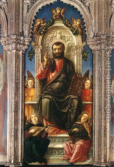 Triptych of St Mark (detail) 1474 by Bartolomeo Vivarini - Reproduction Oil Painting