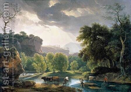 View of the Roman Campagna 1814 by Hendrik Voogd - Reproduction Oil Painting