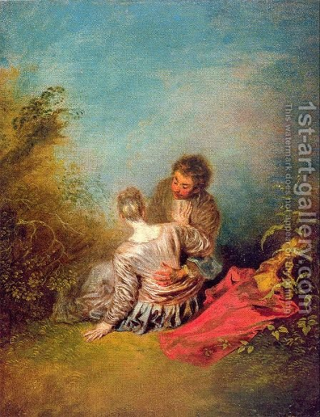 The Misste 1719 by Jean-Antoine Watteau - Reproduction Oil Painting