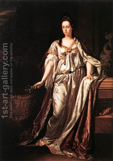 Maria Anna Loisia de'Medici 1700 by Adriaen Van Der Werff - Reproduction Oil Painting