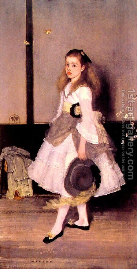 Harmony in Grey and Green- Miss Cicely Alexander  1872-73 by James Abbott McNeill Whistler - Reproduction Oil Painting