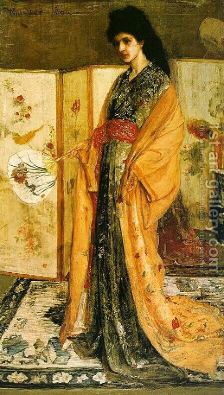 Rose and Silver- The Princess from the Land of Porcelain 1863-64 by James Abbott McNeill Whistler - Reproduction Oil Painting
