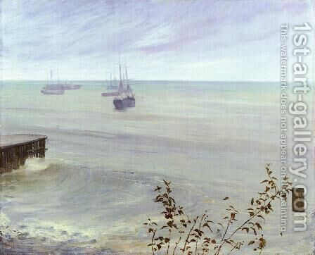 Symphony in Grey and Green- The Ocean  1866-72 by James Abbott McNeill Whistler - Reproduction Oil Painting