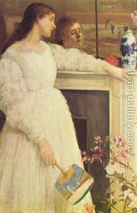 Symphony in White Number 2- The Little White Girl  1864 by James Abbott McNeill Whistler - Reproduction Oil Painting