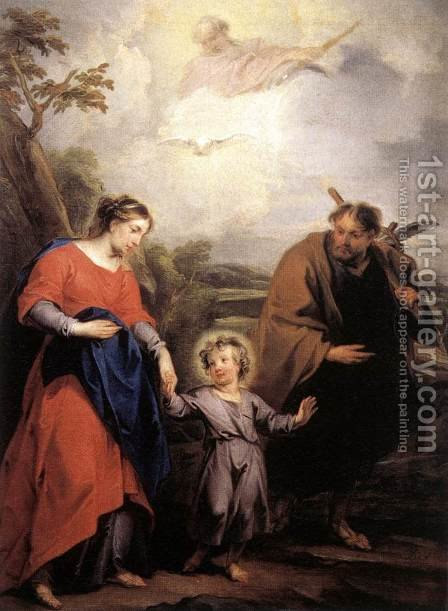 Holy Family and Trinity 1726 by Jacob de Wit - Reproduction Oil Painting