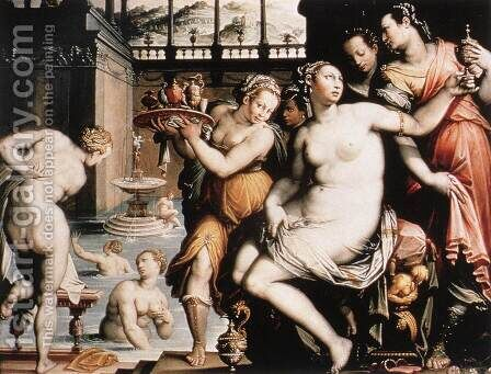 The Toilet of Bathsheba after 1573 by Jacopo Zucchi - Reproduction Oil Painting