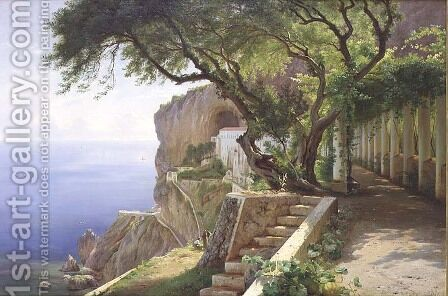 Amalfi by Carl Frederick Aagaard - Reproduction Oil Painting