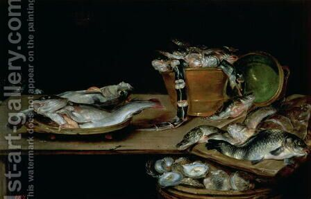 Still Life with Fish 2 by Alexander Adriaenssen - Reproduction Oil Painting