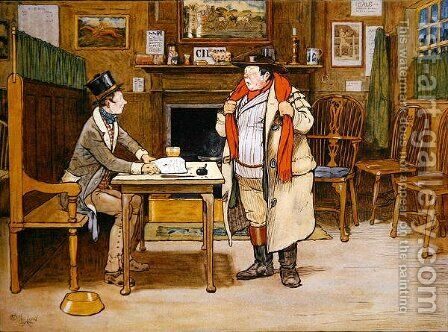 The Two Wellers at the Blue Boar by Cecil Charles Aldin - Reproduction Oil Painting