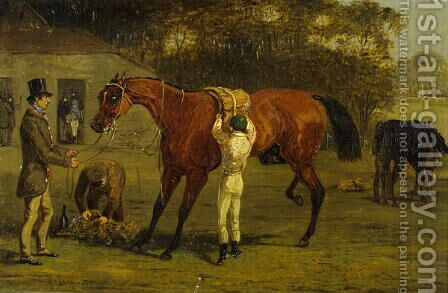Saddling by Henry Thomas Alken - Reproduction Oil Painting