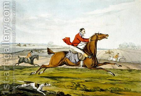 Champing at the Bit, from 'Qualified Horses and Unqualified Riders', 1815 by Henry Thomas Alken - Reproduction Oil Painting