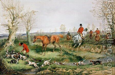 Hunting Scene by Henry Thomas Alken - Reproduction Oil Painting