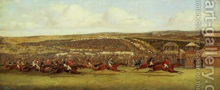 The Finish of the Derby by Henry Thomas Alken - Reproduction Oil Painting