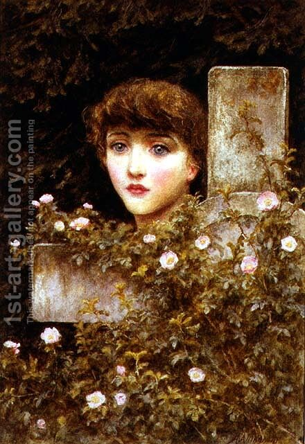 Sorrow - A Wild Rose by Helen Mary Elizabeth Allingham, R.W.S. - Reproduction Oil Painting