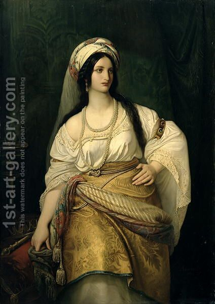 Esther by Hermann Anschuetz - Reproduction Oil Painting