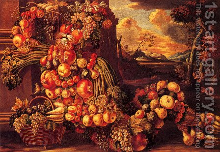 Seated Figure of Summer  1573 by Giuseppe Arcimboldo - Reproduction Oil Painting