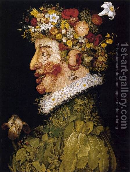 Spring (1) by Giuseppe Arcimboldo - Reproduction Oil Painting