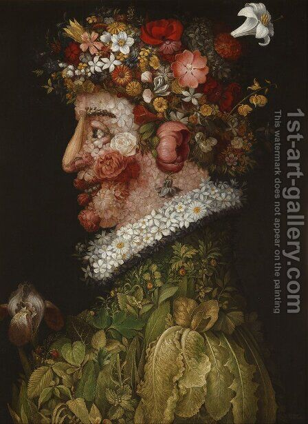 Spring (2) by Giuseppe Arcimboldo - Reproduction Oil Painting