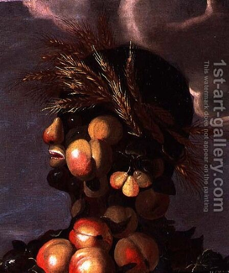 Summer (4) (detail) by Giuseppe Arcimboldo - Reproduction Oil Painting