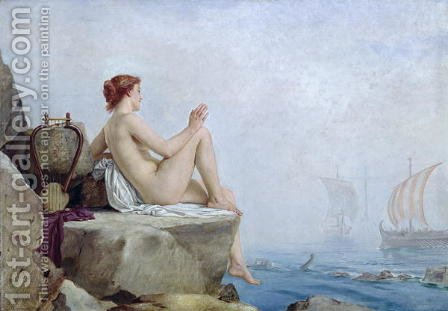 The Siren 1888 by Edward Armitage - Reproduction Oil Painting