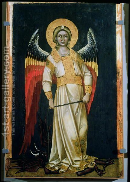 Archangel Michael (1) by Guariento di Arpo - Reproduction Oil Painting