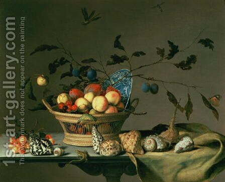 Still Life by Balthasar Van Der Ast - Reproduction Oil Painting
