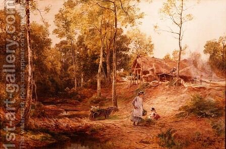 Autumn in a Gloucestershire Wood by James Aumonier - Reproduction Oil Painting