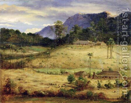 Homesteads, c.1850 by Anonymous Artist - Reproduction Oil Painting