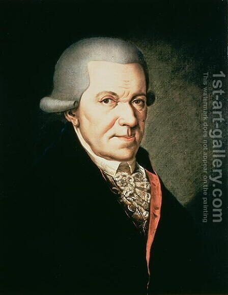 Johann Michael Haydn by Anonymous Artist - Reproduction Oil Painting
