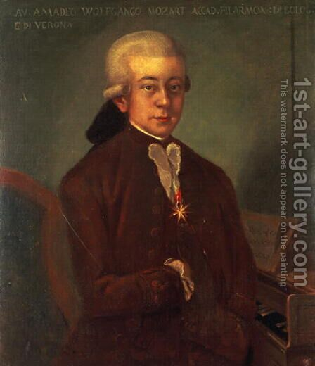 Portrait of Wolfgang Amadeus Mozart by Anonymous Artist - Reproduction Oil Painting