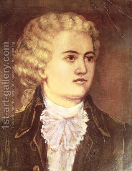 Wolfgang Amadeus Mozart by Anonymous Artist - Reproduction Oil Painting
