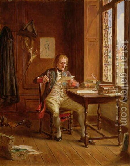 A Difficult Letter by James de Vine Aylward - Reproduction Oil Painting