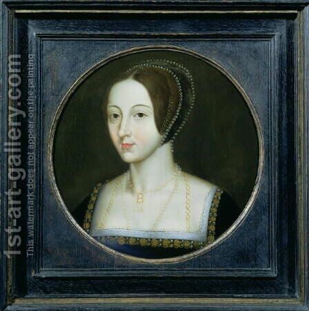 Portrait of Anne Boleyn (c.1507-36) by Anonymous Artist - Reproduction Oil Painting