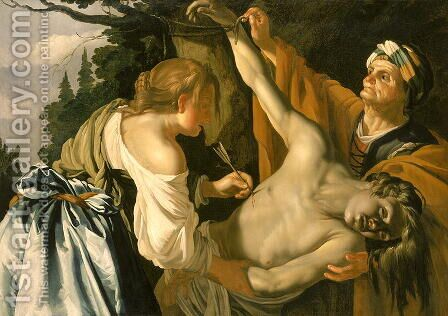 The Nursing of Saint Sebastian 1622 by Dirck Van Baburen - Reproduction Oil Painting