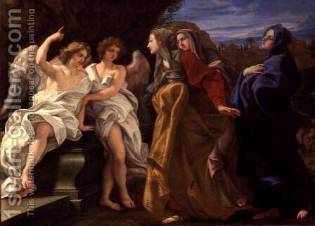 The Three Marys at the Sepulchre, c.1684-85 by Baciccio II - Reproduction Oil Painting