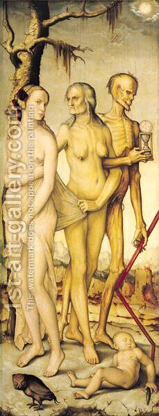 The Three Ages of Man and Death by Hans Baldung  Grien - Reproduction Oil Painting