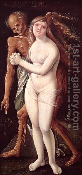 Young Woman and Death 1517 by Hans Baldung  Grien - Reproduction Oil Painting