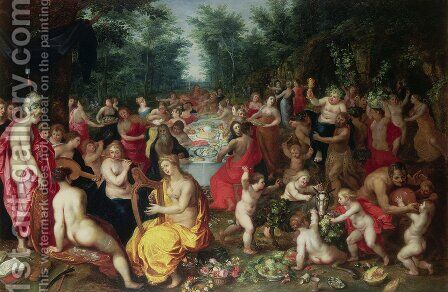 Feast of the Gods by Hendrik van Balen, I - Reproduction Oil Painting