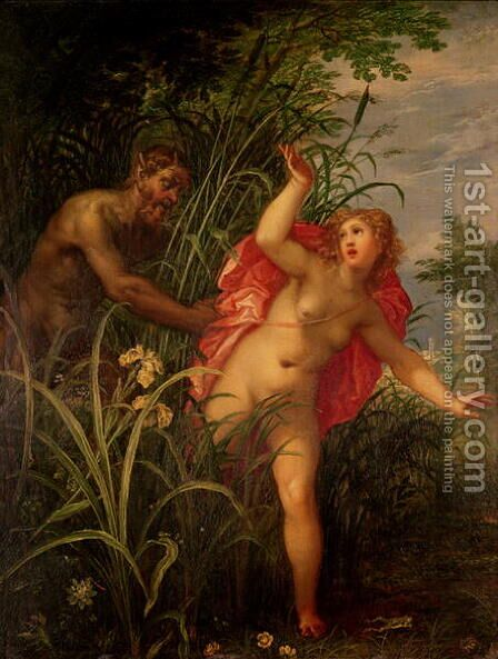Pan Pursuing Syrinx, c.1615 by Hendrik van Balen, I - Reproduction Oil Painting