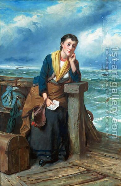 The Emigrant c.1860 by Edward Charles Barnes - Reproduction Oil Painting