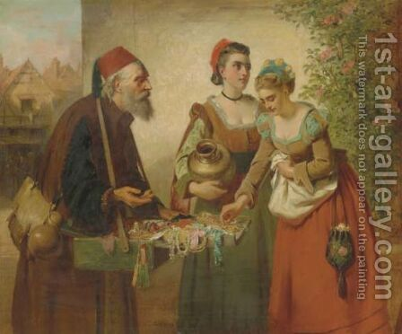 The peddler by Edward Charles Barnes - Reproduction Oil Painting