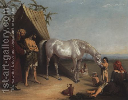 The last resource 1836 by Henry Barraud - Reproduction Oil Painting