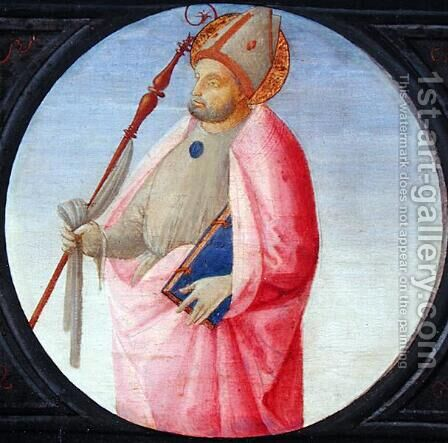 A Bishop Saint c.1500 by Bartolomeo Di Giovanni - Reproduction Oil Painting