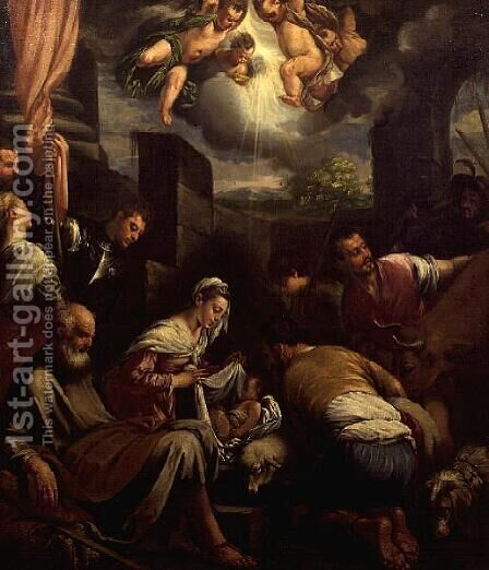 The Crib of St. Joseph by Jacopo Bassano (Jacopo da Ponte) - Reproduction Oil Painting